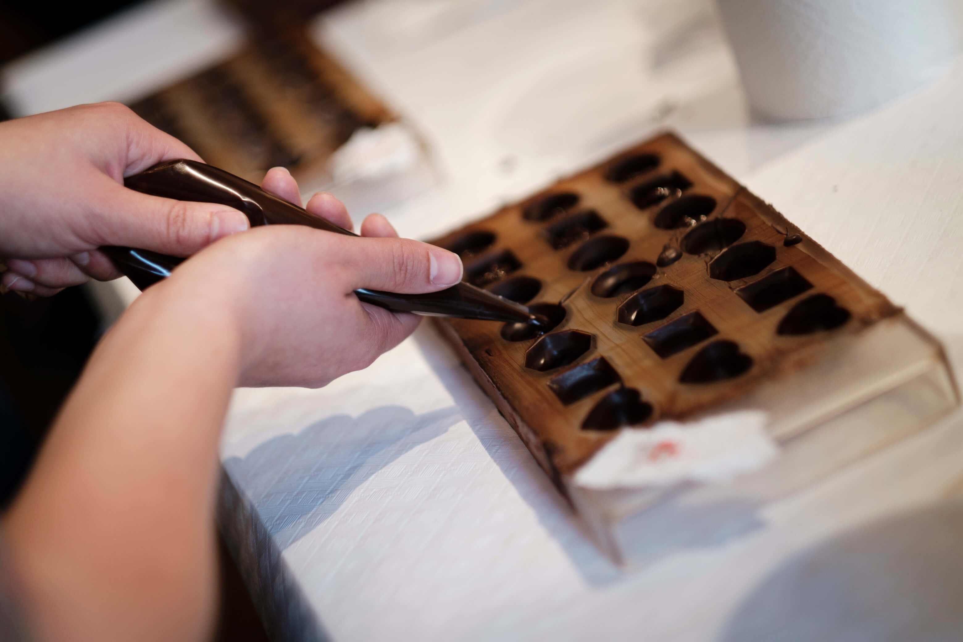 fill up chocolates by yourself at our workshop